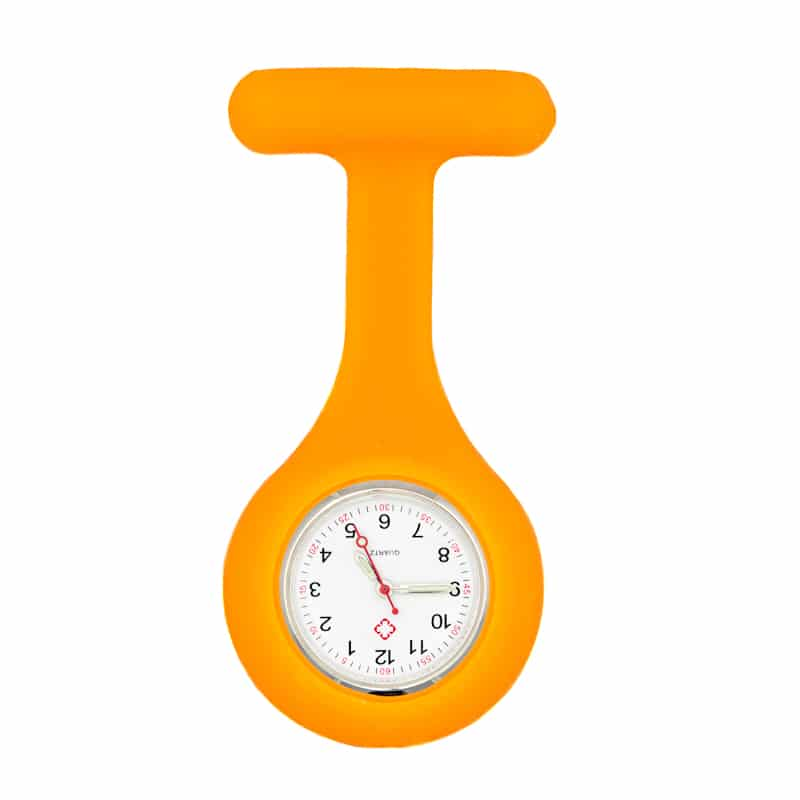 Sjuksköterskeklocka med silikonskal (Orange)