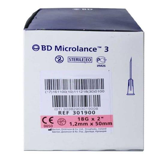 BD Microlance 3, Injektionskanyl 1,25 x 50 mm, 100 st