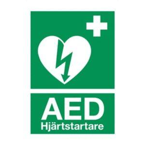 Skylt eller Klisteretikett för hjärtstartare - Storlek A5