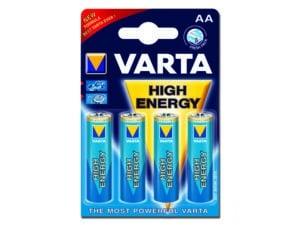 Alkaliska Batterier Varta High Energy AA 4st