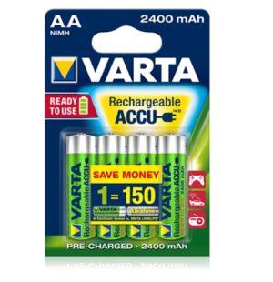Varta Batterier Uppladdningsbara 2400 mAh R6 AA