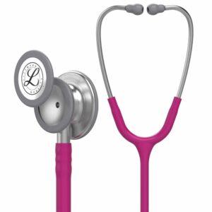 Littmann Classic III Stethoscope, Standard Finish Chestp, Raspberry tube