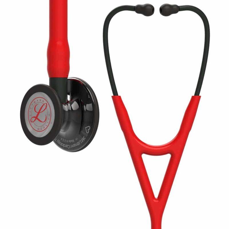 Littmann Cardiology IV Stetoskop, High Polish Smoke-Finish Chestp, Red tube