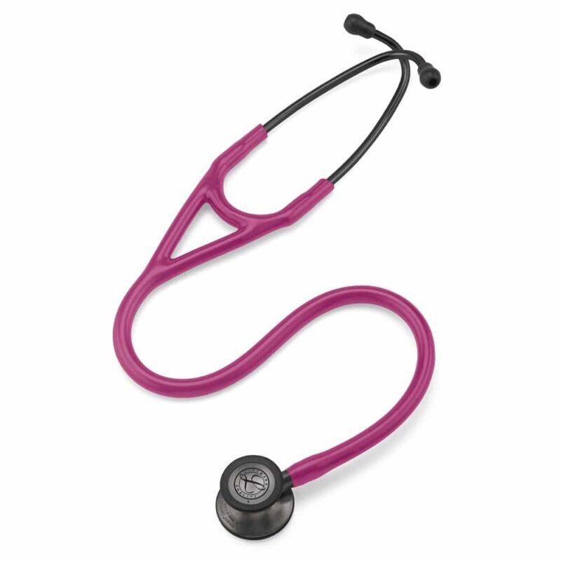 Littmann Cardiology IV Stethoscope Smoke Finish Chestpiece-Rasberry Tube