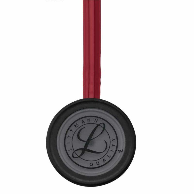 Littmann Classic III Stethoscope Black-Finish Chestpiece W- Burgundy Tube