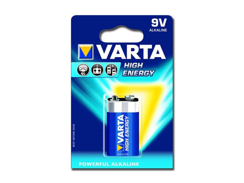 Alkaliskt batteri 9 V Varta High Energy