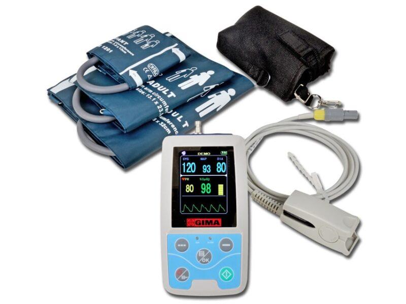 24 Timmars Blodtrycksmätare Med SpO2 - ABPM02