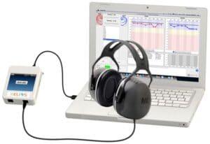 Automatisk Audiometer med headset för luft och benledning