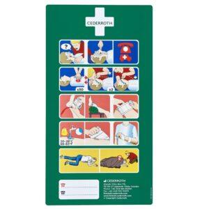 Cederroth Första Hjälpen-instruktion 33 x 18 cm, självhäftan