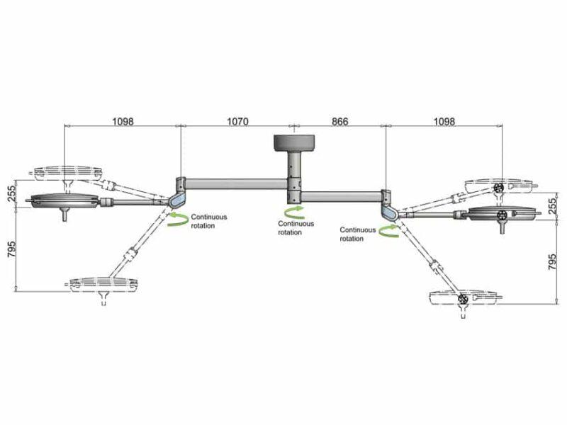 Operationslampa PentaLED dubbel (63N+63N)