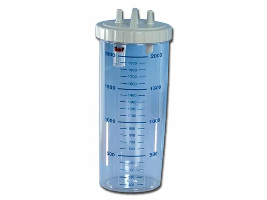 Flaska 2000 ml till Sugsystem Super Vega