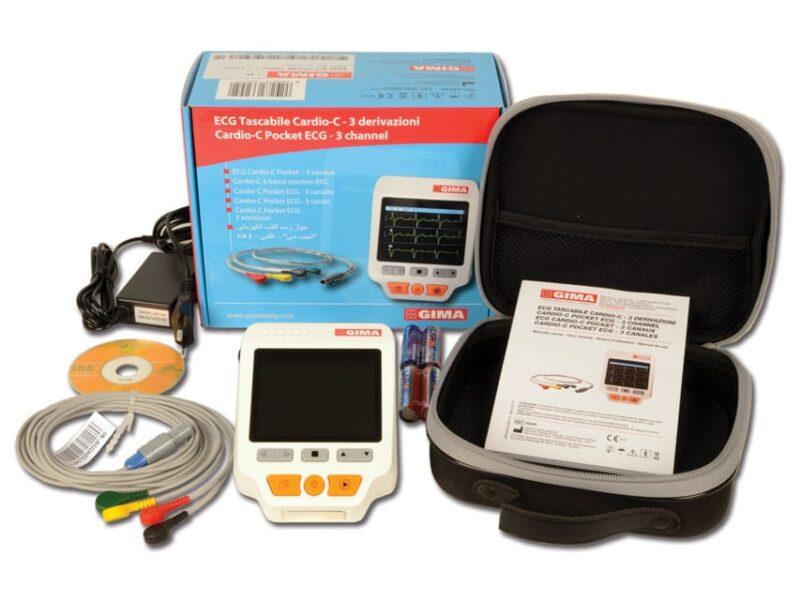 Handhållen EKG-apparat Cardio-C med färgskärm