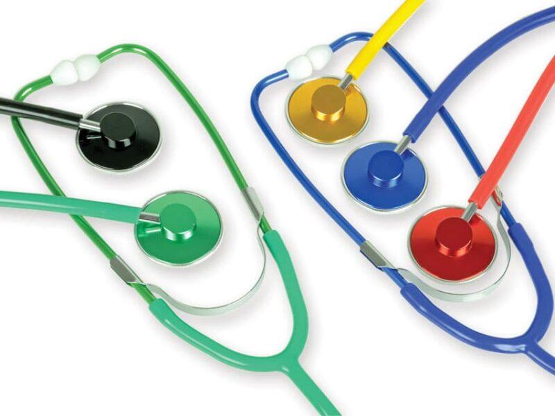 Metallic Stetoskop med enkelt huvud - Röd