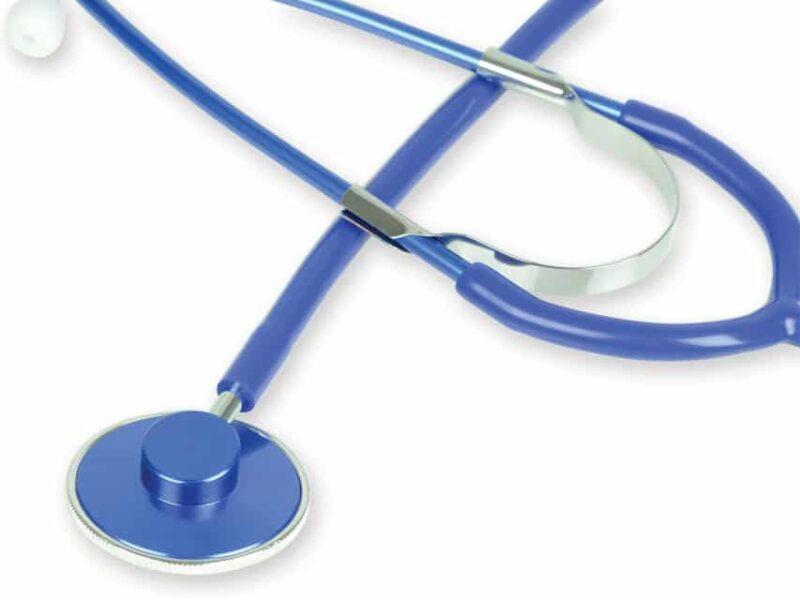 Metallic Stetoskop med enkelt huvud - Blå
