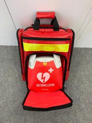 Akutväska Emergency med plats för hjärtstartare(Blå)