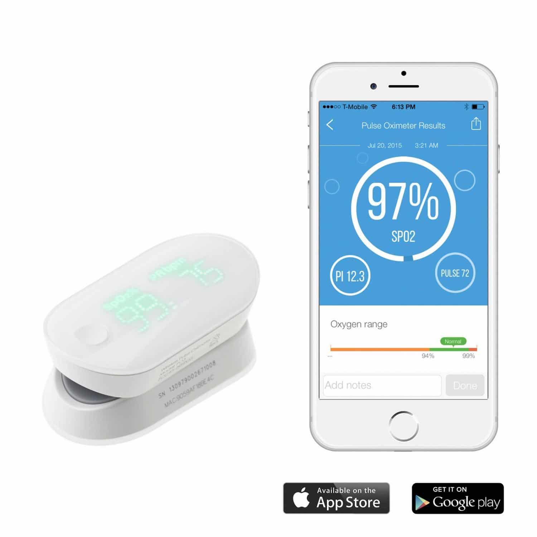 iHEALTH trådlös pulsoximeter för mobila enheter