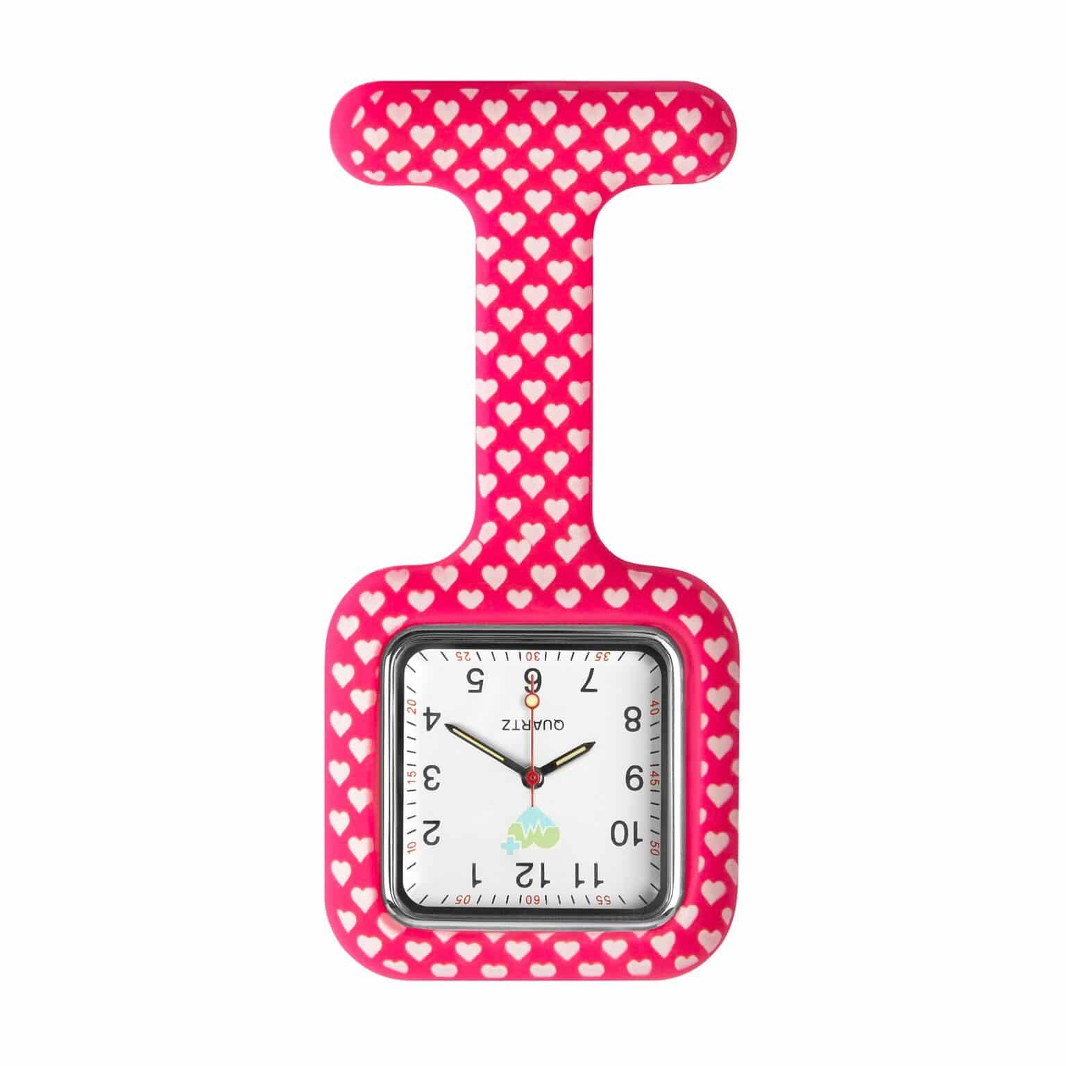 Klocka med silikonskal för sjuksköterskor Hearts fantasy