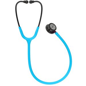 Littmann Classic III Stetoskop, Smoke Chestpiece, Turquoise Tube, Pink Stem and