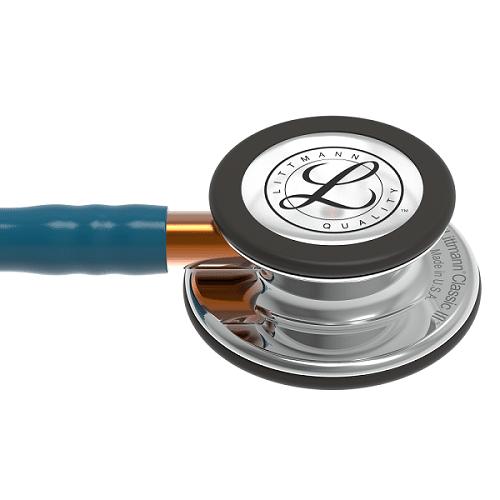 Littmann Classic III Stetoskop, Mirror Chestpiece, Caribbean Blue Tube
