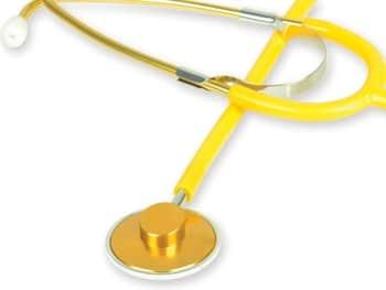 Metallic Stetoskop med enkelt huvud - Gul