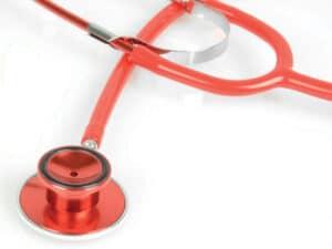 Metallic Stetoskop - Röd