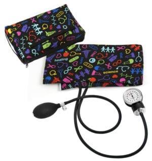 Premium Blodtrycksmätare med Sjukvårdsmotiv Svart