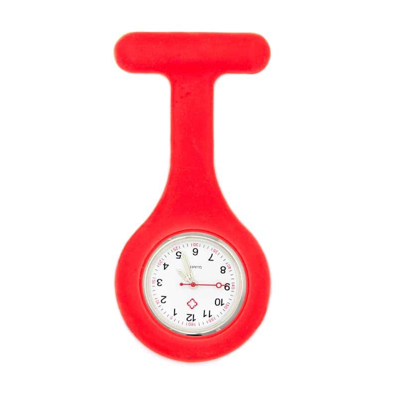 Enfärgat skal till silikonklocka (Röd)