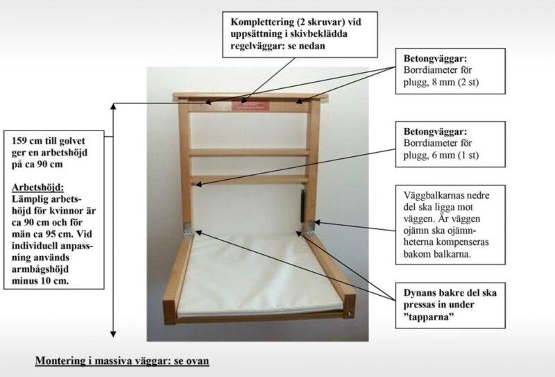 Skötbord Robust - Bok