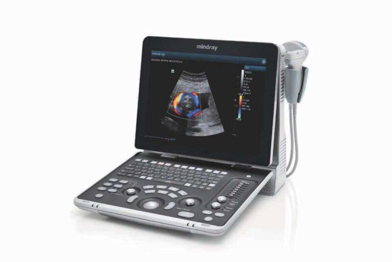 Visar Mindray Z50 Ultraljudsapparat i uppfällt läge