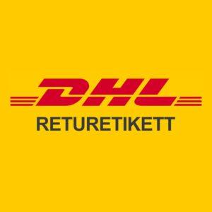 DHL Returetikett för skrymmande vara