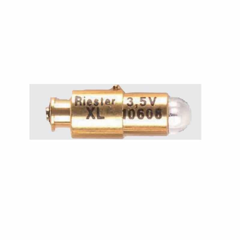 Visar Riester Oftalmoskoplampa med referensnummer