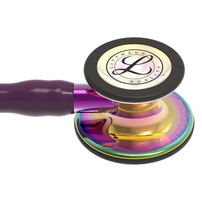 visar Littmann Stetoskop Cardiology IV Plum 6239 klocka