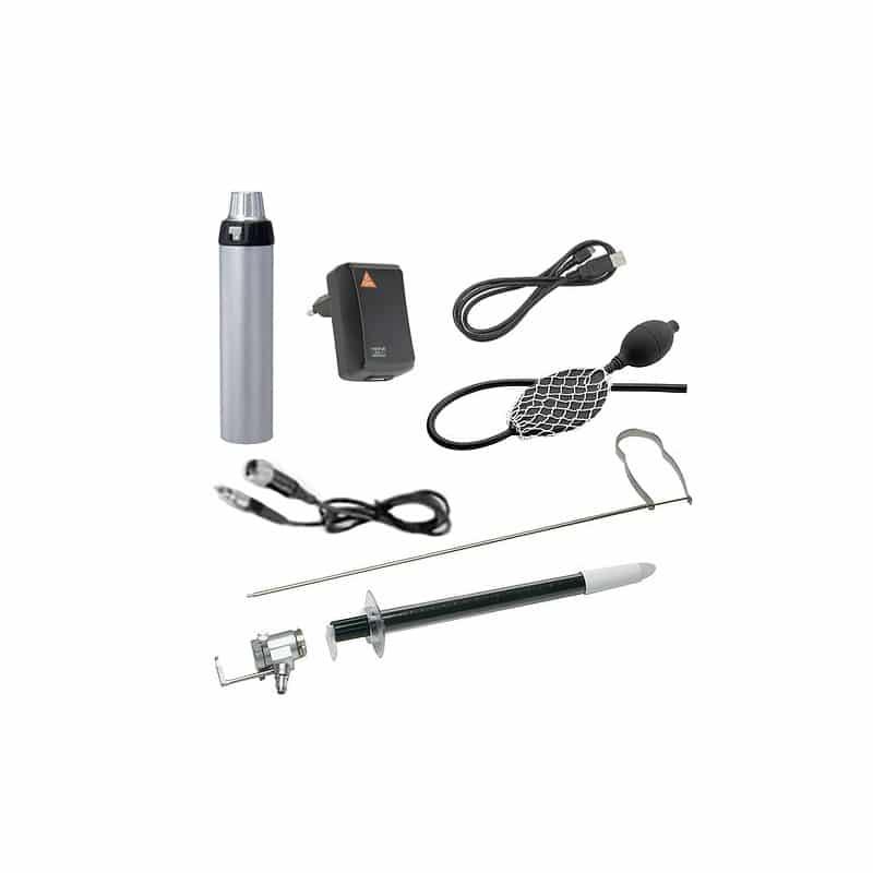 visar innehåll i HEINE Rektoskop och Proktoskop Kit BETA4 USB