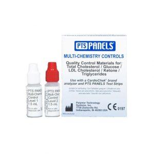 Multikemikalie kontroll för kvalitetskontroll av CardioChek