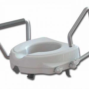 Toalett förhöjning med armstöd