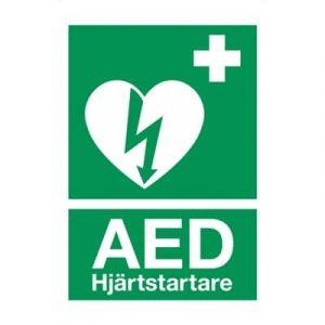 AED klisteretikett A4