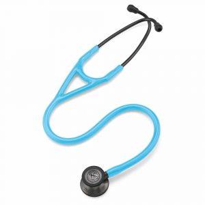 Littman Cardiology IV Smoke Finish Chestpiece-Turquoise Tube