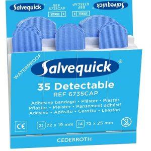 Salvequick Blå Detectable Sterila Plåster