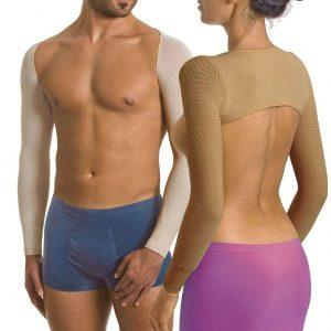 Mikromasserande sömlösa ärmar - Slimming Sleeves (Svart/L)