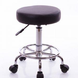 Rund stol för undersökningar, metallunderrede