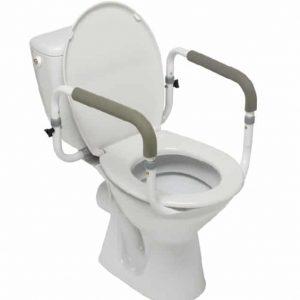 Stödhandtag för toalett med två handtag