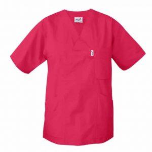 Tunika för vården V-ringad Cerise